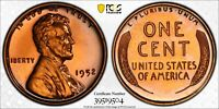 1952 PROOF LINCOLN CENT PCGS GRADED PR65 RD WITH TRUEVIEW SECURITY