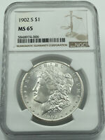 1902-S NGC MINT STATE 65 MORGAN SILVER DOLLAR