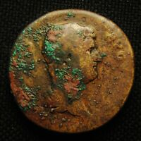 SESTERTIUS EMPEROR HADRIAN RV FORT RED FORTUNA SEATED 24.81 GRS 31 2MM AD 118