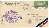 UNITED STATES  1ST FLIGHT COVER OF THE AMERICAN CLIPPER MIAM