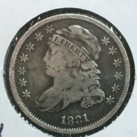 1831  FINE  CAPPED BUST DIME   COIN