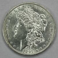 1891-P MORGAN SILVER DOLLAR CHEST FEATHERS.   HIGH GRADE INV.A