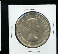 1955 ARNPRIOR WITH DIE BREAK CANADA SILVER DOLLAR AU55 B153