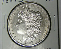AU 1887-S MORGAN SILVER DOLLAR ABOUT UNCIRCULATED DETAIL SAN FRANCISCO 73120