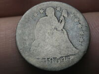 1854 O SEATED LIBERTY SILVER DIME- NEW ORLEANS