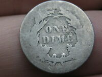 1860, 1870, 1880 OR 1890 SEATED LIBERTY SILVER DIME