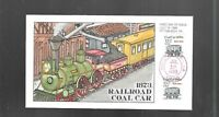 US FDC FIRST DAY COVERS  2259 COAL CAR 1988 HAND PAINTED COL
