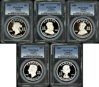CANADA $15 ULTRA HIGH RELIEF 2008 2009 VIGNETTES OF ROYALTY SET ALL PCGS PL69