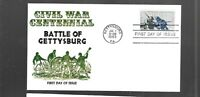 US FDC FIRST DAY COVERS  1180 GETTYSBURG CIVIL WAR 1963   CA