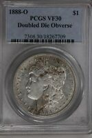 1888 O $1 PCGS  VF30, DOUBLE DIE OBVERSE MORGAN SILVER DOLLAR,