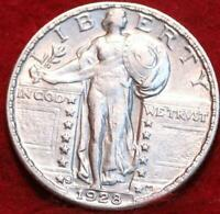 UNCIRCULATED 1928 S SAN FRANCISCO MINT SILVER STANDING LIBER