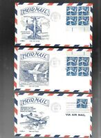 US FDC FIRST DAY COVERS AIR MAIL 1958 BLUE JET SET OF 5  BY