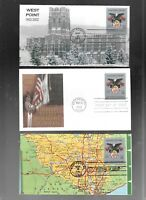 US FDC FIRST DAY COVERS  3560 MILITARY ACADEMY 2002  LOT OF