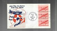 US FDC  FIRST DAY COVER   C25A AIR MAIL BOOKLET PANE 1943  F