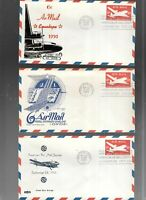 US FDC  FIRST DAY COVERS  AIR MAIL 1950  LOT OF 6  EMBOSSED