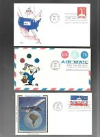 US FDC  FIRST DAY COVERS  COLLECTION  AIR MAIL 1970 'S  LOT
