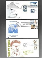 US FDC  FIRST DAY COVERS COLLECTION  AIR MAIL WITH COMBO  LO