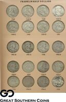 1948 TO 1963 FRANKLIN HALF DOLLAR COMPLETE SET IN DANSCO ALB