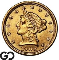 1902 QUARTER EAGLE $2.5 GOLD LIBERTY    FREE SHIPPING