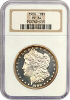 1900 $1 NGC PR 64 - FLASHY - MORGAN SILVER DOLLAR - FLASHY