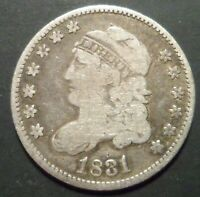 FULL LIBERTY 1831 CAPPED BUST HALF DIME 5C SCARCE ESTATE COL