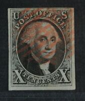 CKSTAMPS: US STAMPS COLLECTION SCOTT2 10C USED CORNER LIGHT