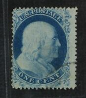 CKSTAMPS: US STAMPS COLLECTION SCOTT18 1C FRANKLIN USED TINY
