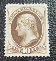 NYSTAMPS US STAMP  188 MINT OG H $1800