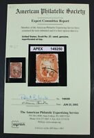 CKSTAMPS: US STAMPS COLLECTION SCOTT27 5C JEFFERSON USED WIT