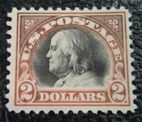 NYSTAMPS US STAMP  523 MINT OG H $525 FRANKLIN
