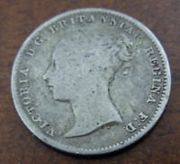 GREAT BRITAIN 1854 SILVER 4 PENCE  GROAT  VF VICTORIA