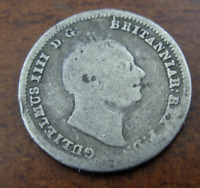 GREAT BRITAIN 1837 SILVER 4 PENCE  GROAT  FINE WILLIAM IV