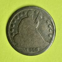 1840 O LIBERTY SEATED HALF DIME   90  SILVER   NO RESERVE