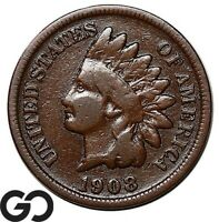 1908 S INDIAN HEAD CENT PENNY KEY DATE SAN FRANCISCO ISSUE