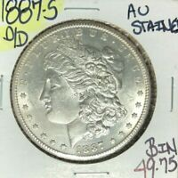 1887-S MORGAN SILVER DOLLAR  AU  STAINED  COINREF D/D