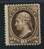 CKSTAMPS: US STAMPS COLLECTION SCOTT209B 10C JEFFERSON UNUSE