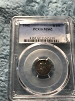 1862 LIBERTY SEATED HALF DIME CHOICE UNCIRCULATED PCGS MS 62