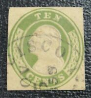 NYSTAMPS US CUT SQUARE STAMP  U18 USED $100