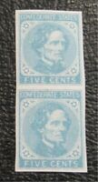 NYSTAMPS US CSA CONFEDERATE STAMP  6 MINT OG NH $37 PAIR