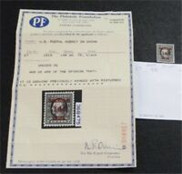NYSTAMPS US SHANGHAI CHINA STAMP  K7 MINT OG H $88 PF CERTIF