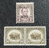 NYSTAMPS US CANAL ZONE STAMP  93 MINT OG H/NH $24
