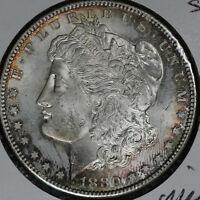 LIGHTLY TONED UNCIRCULATED 1880-S MORGAN SILVER DOLLAR