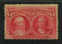 CKSTAMPS: US STAMPS COLLECTION SCOTT244 $3 COLUMBIAN UNUSED
