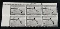 NYSTAMPS US DUCK PLATE BLOCK STAMP  RW23 MINT OG NH $575 PLA