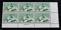 NYSTAMPS US DUCK PLATE BLOCK STAMP  RW24 MINT OG NH $575 PLA