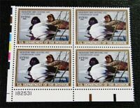NYSTAMPS US DUCK PLATE BLOCK STAMP  RW56 MINT OG NH $85 PLAT