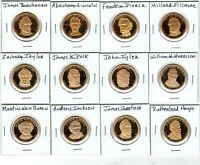 20 DIFFERENT PROOF PRESIDENTIAL GOLDEN DOLLARS WASHINGTON-GRANT SHIPS FREE