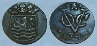 HISTORIC      1749 COLONIAL COPPER COIN     EARLY NEW YORK C