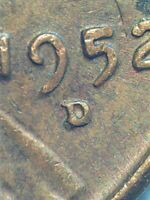 1952 TRIPLE D  LINCOLN WHEAT CENT  RPM023 VARIETY COIN
