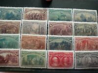 SC 230 245 US 1893 COLUMBIAN EXPOSITION STAMP REPRODUCTION PLACE HOLDERS